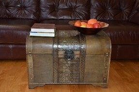 Wooden trunks foter large brown old fashion wood storage trunk wooden treasure chest gumiabroncs