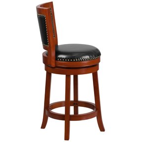Boraam 43024 Magellan Swivel Stool, 24-Inch, Brandy
