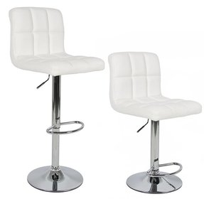 White Leather Bar Stools Foter