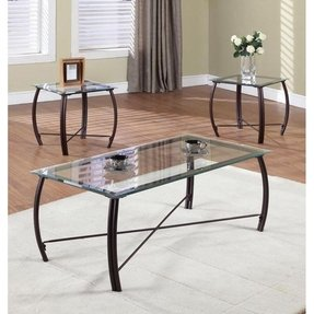 Metal End Tables With Glass Top - Foter