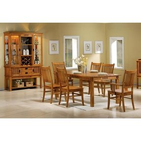 Coaster 100621 Mission Style Dining Table Burnished Oak Solid Hardwood