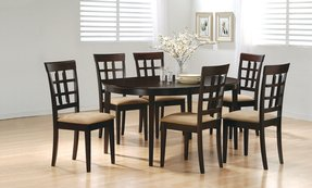 Coaster Contemporary Style Dining Chairs Cuccino Wood Finish Set Of 2