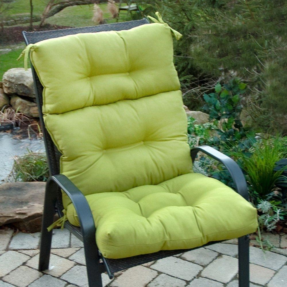 Greendale Home Fashions Indoor/Outdoor High Back Chair Cushion, Kiwi