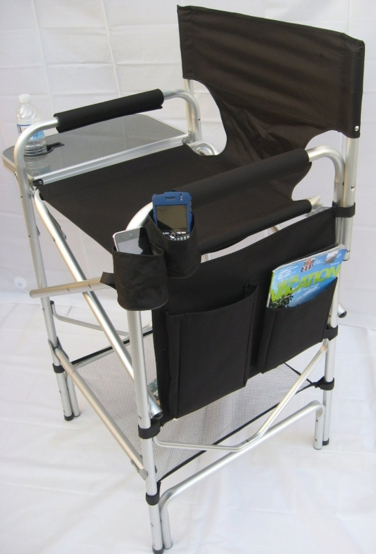 OASIS HEAVY DUTY TALL DIRECTOR Chair W/ Cell Phone Holder 10 YEARS