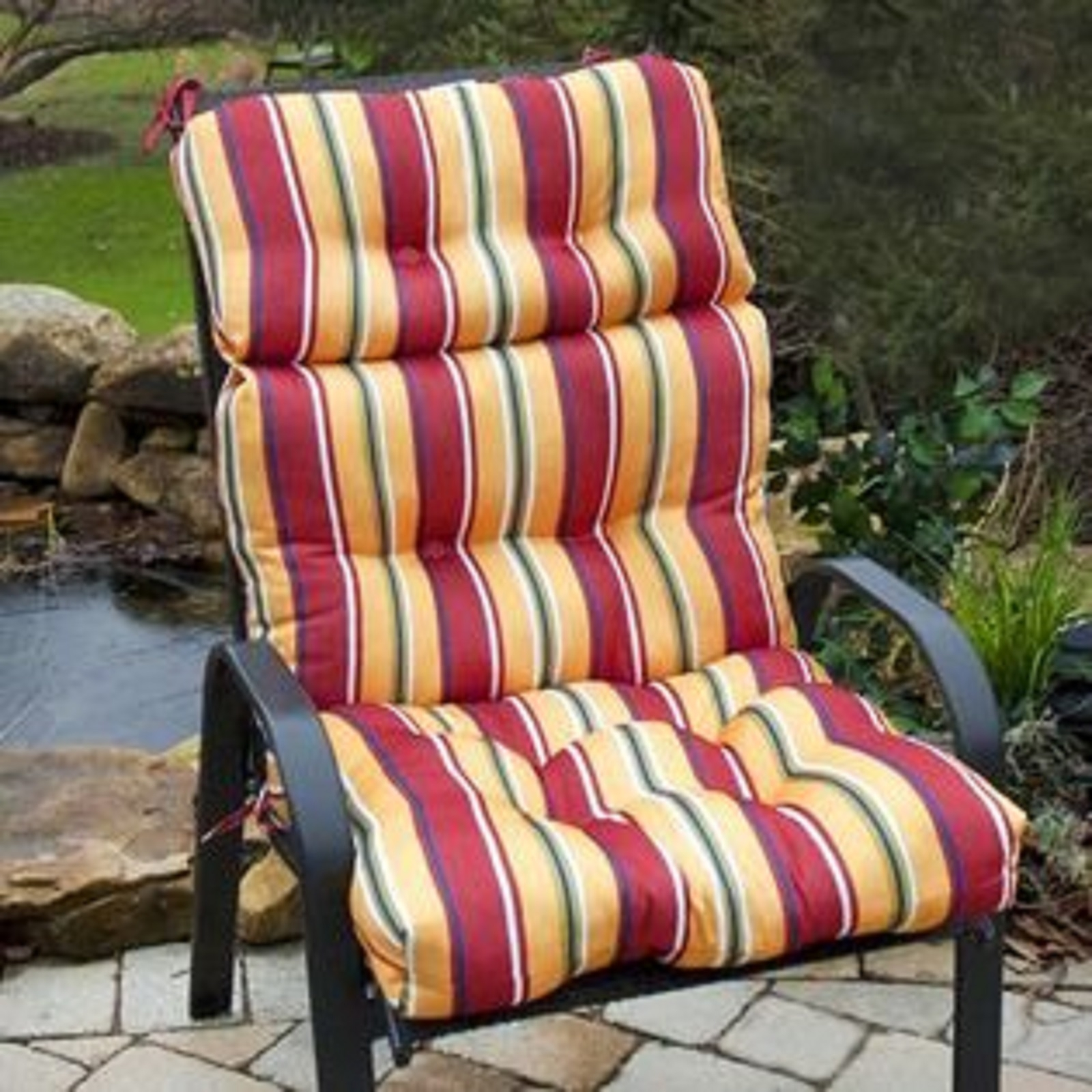 Captivating Outdoor High Back Chair Cushion