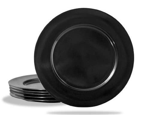 Reston Lloyd Black Melamine Dinner Plate Set of 6  sc 1 st  Foter & Black And White Charger Plates - Foter