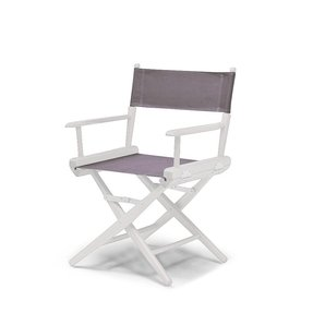 Telescope Casual World Famous Dining Height Director Chair, Periwinkle with White Frame