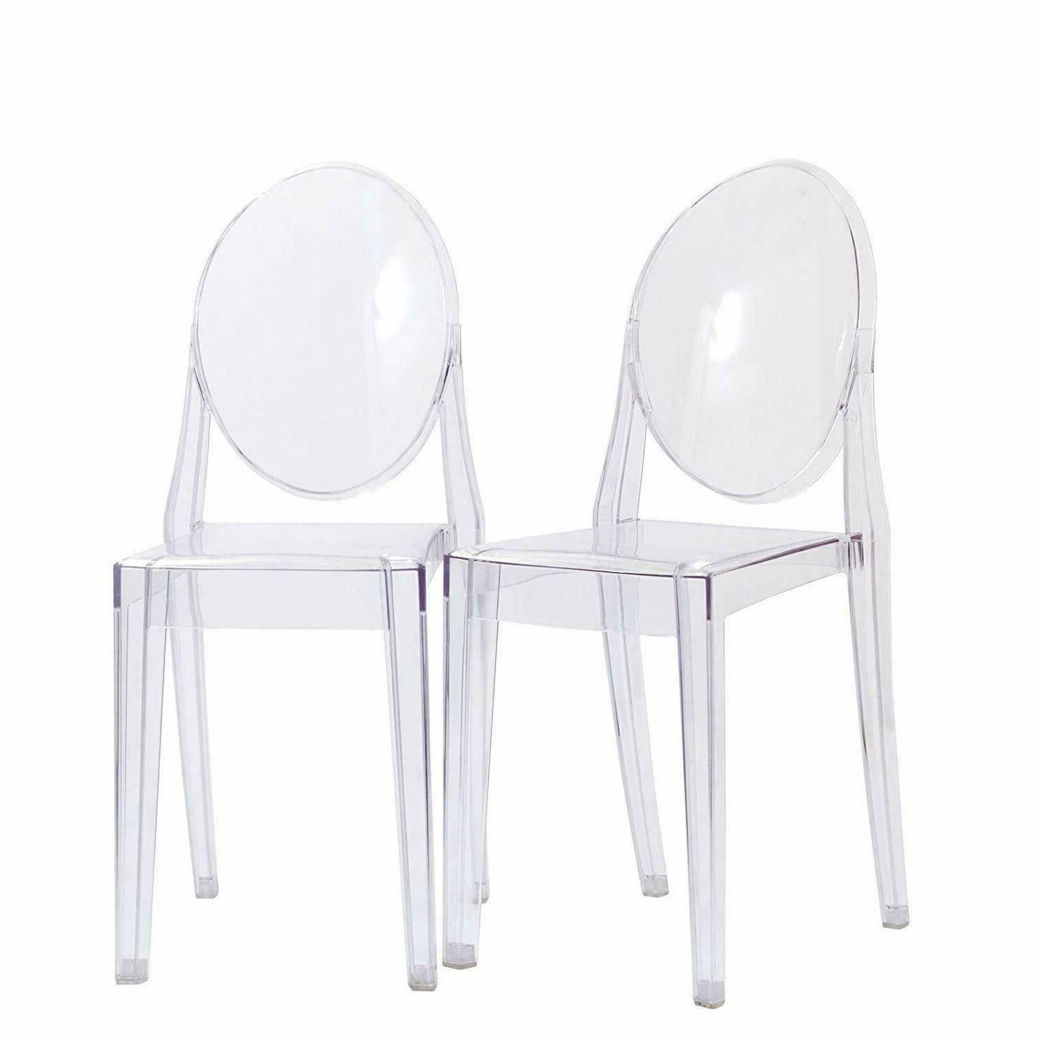 Victoria Ghost Side Chair   Transparent Acrylic Chair