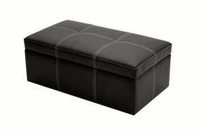 Small Leather Ottomans Foter