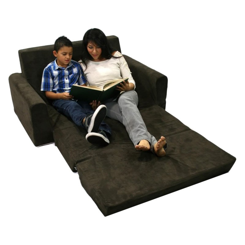 Newco Kids Flip Sofa, Micro Chocolate
