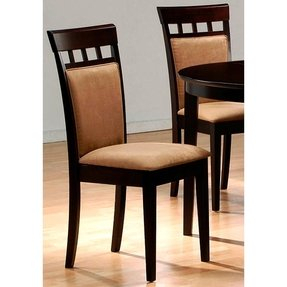 Set of 2 Contemporary Style Cappuccino Finish Dining Chairs
