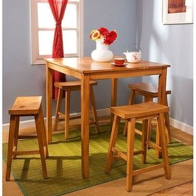 Belfast 5 Piece Counter Height Dining Set Finish: Rustic Oak