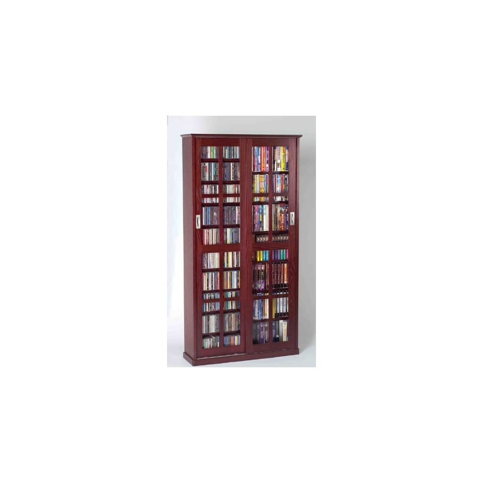 Charming Leslie Dame MS 700DC Mission Multimedia DVD/CD Storage Cabinet With Sliding Glass  Doors