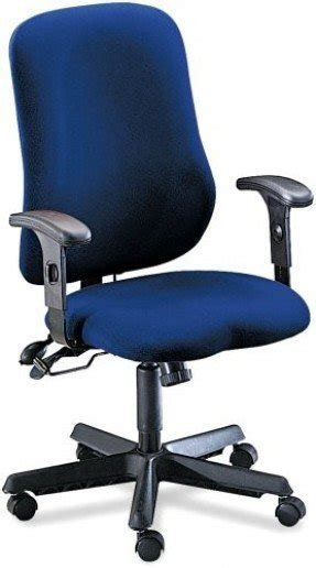 Tiffany Industries 4019AG2111 Comfort Series Contoured Support Swivel/Tilt  Chair, Blue Fabric