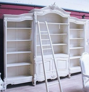 Bookcase, French Style Bookcase With Ladder
