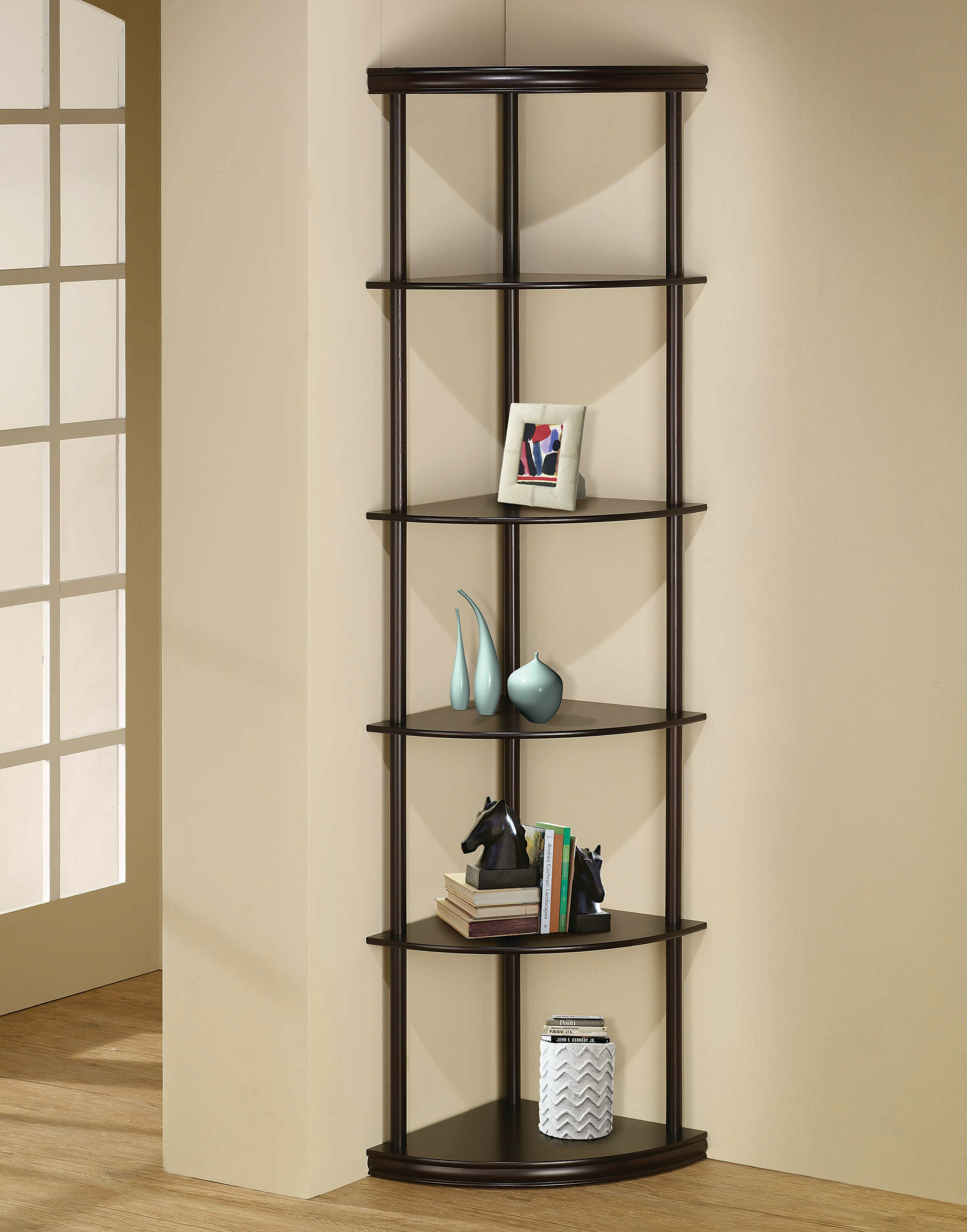Genial A Piece Of Furniture That Has Got A Functional And Decorative Character.  This Corner Shelf Offers A Durable Frame And Plenty Of Space For Storage Of  Books ...