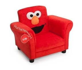 Delta Children's Products Sesame Street Elmo Giggle Upholstered Chair with Sound