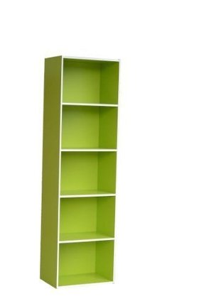 Home to Office Solutions Simplicity 5-Shelf Bookcase, 58-Inch, Green