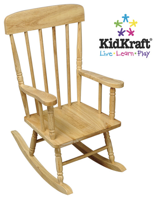 KidKraft Spindle Rocking Chair   Natural
