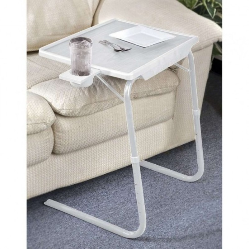 NEW TABLE MATE AS SEEN ON TV PORTABLE ADJUSTABLE CUP HOLDER TV DINNER TRAY  TABLEMATE