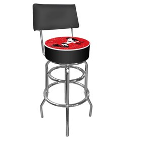 Trademark Budweiser Bowtie Red/Black Padded Bar Stool with Back