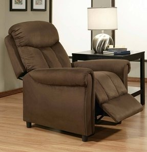Abbyson Living Palermo Dark Brown Microsuede Pushback Recliner