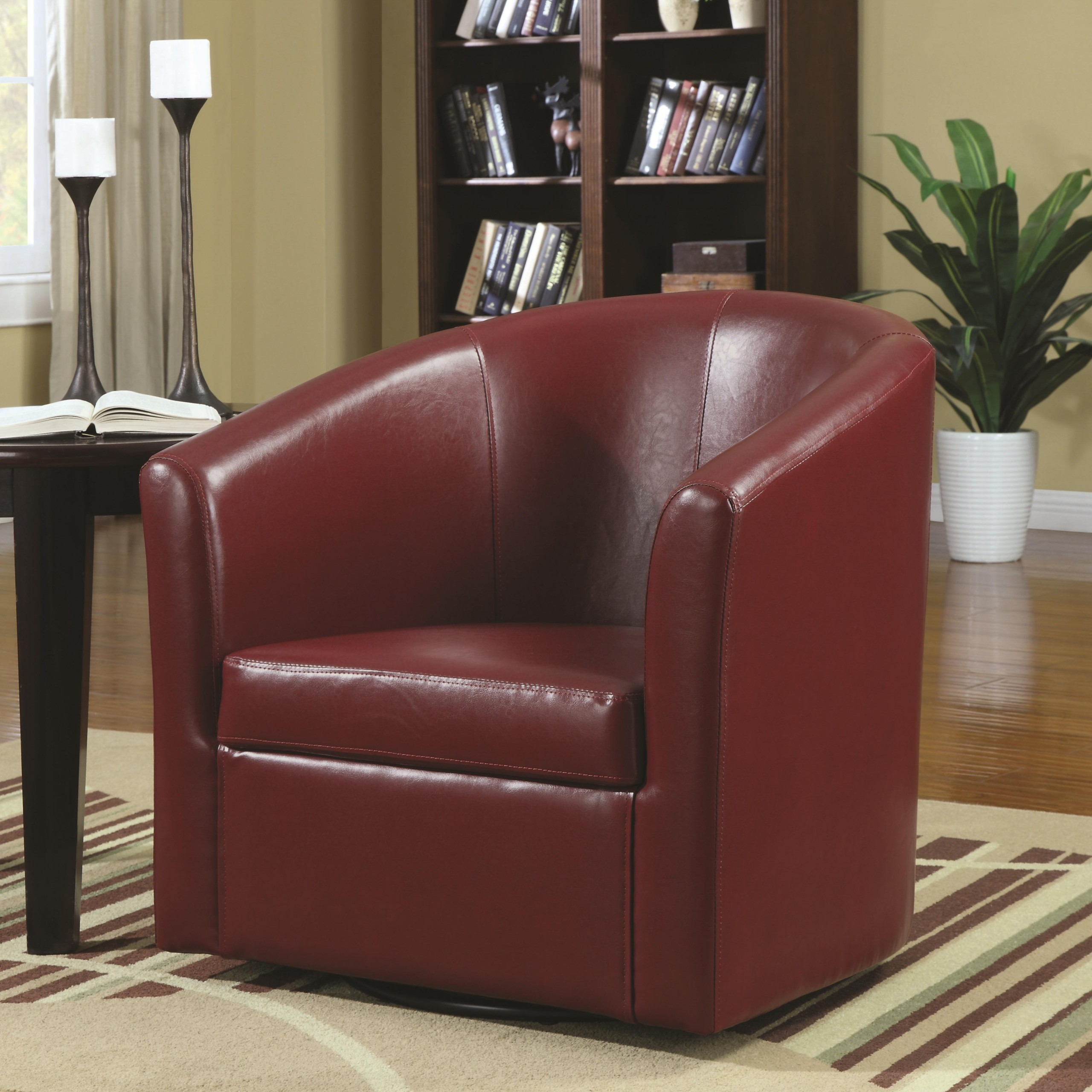 Charmant Barrel Back Chair Color: Red