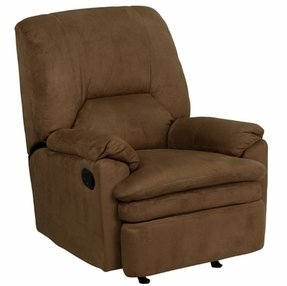 Flash Furniture Contemporary Brown Microfiber Rocker Recliner