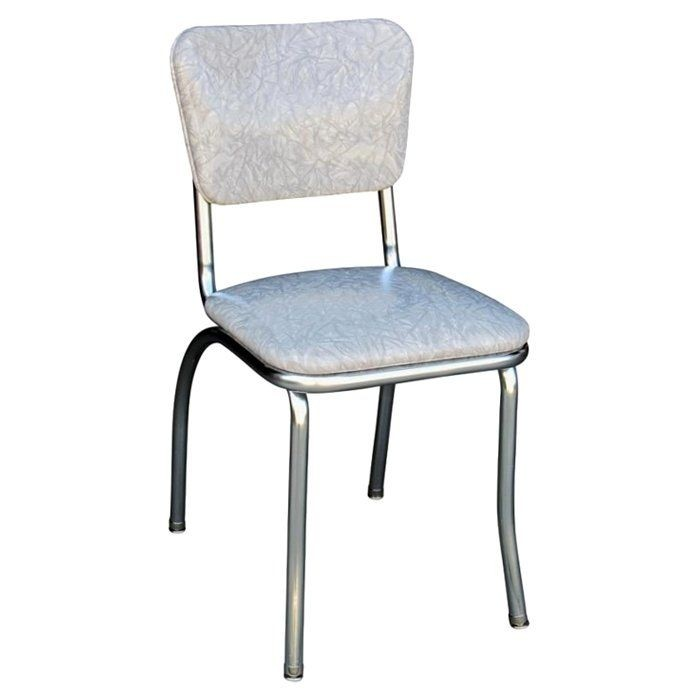 Grey Cracked Ice Retro Diner Chair - Made in the USA