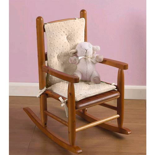Heavenly Soft Childs Rocking Chair Cushion   Color: Minky Blue