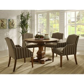 Homelegance 2516NCA Accent/Arm Chair, Stripe Fabric, Set of 2