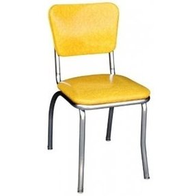 Yellow Cracked Ice Retro Diner Chair - Made in the USA