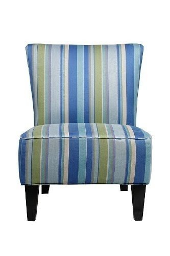 Handy Living 340C PMG95 035 Halsted Armless Transitional Accent Chair,  Mardi Gras Blue