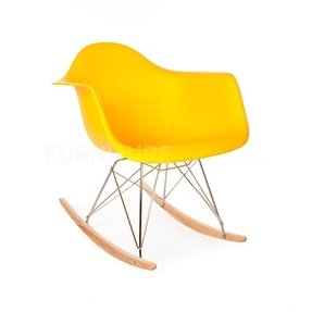 High Quality Eames Style RAR Rocking Arm Lounge Chair - Yellow