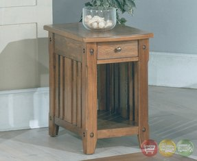 Parker House Mission style Wood Chair side Table