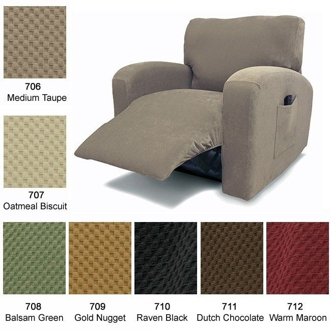 Delicieux Recliner Chair Cover Stretch Pique Warm Maroon 712