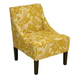 Skyline Furniture Swoop Arm Chair in Canary Maize