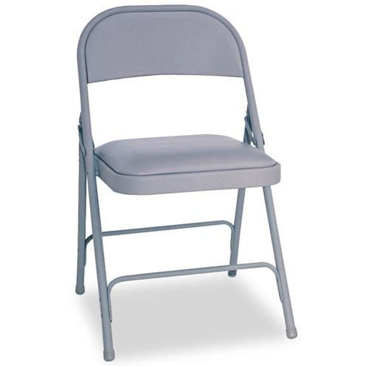 Alera FC94VY40G Steel Folding Chair With Padded Seat, Gray