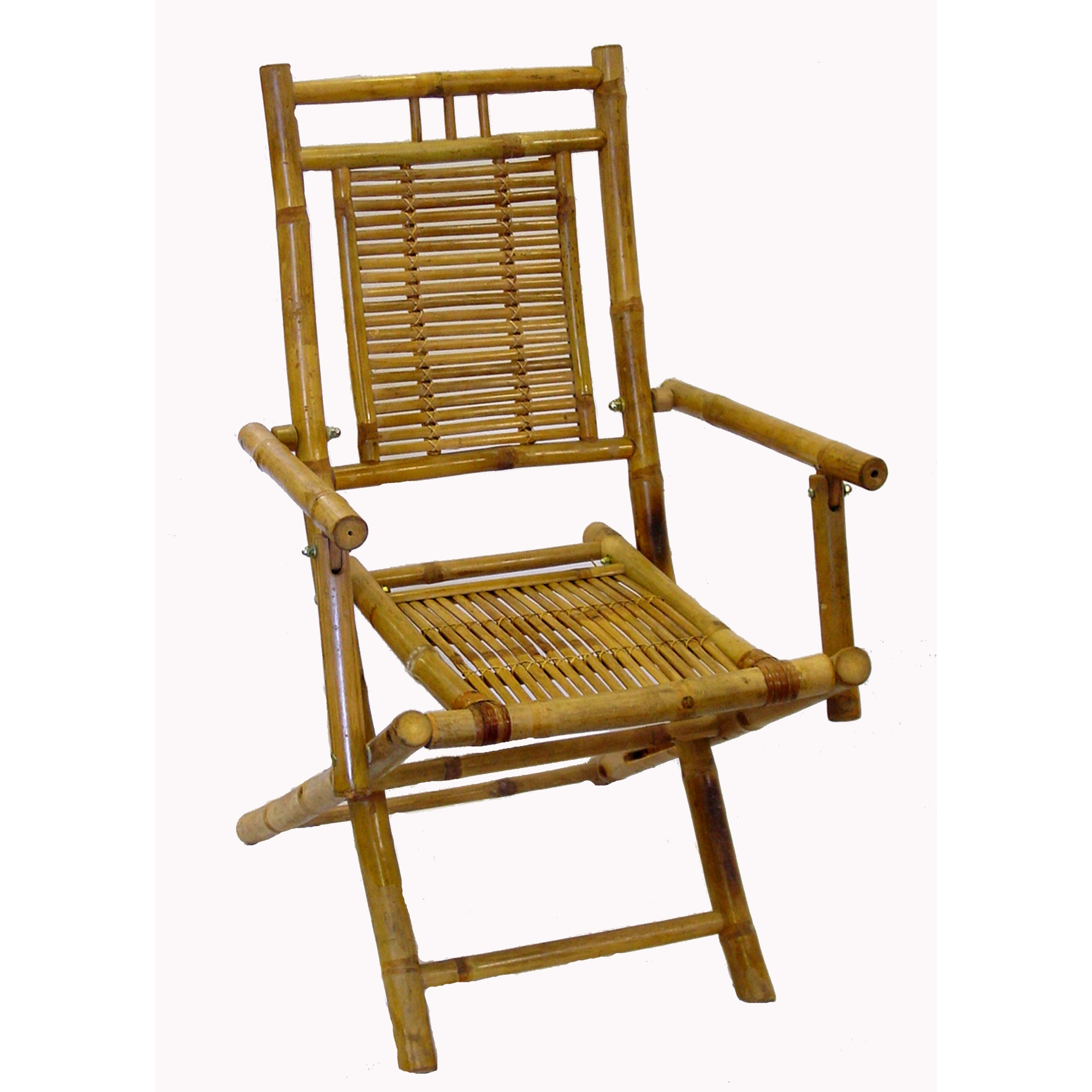 Genial Bamboo Folding Chair W Armrest   Set Of 2