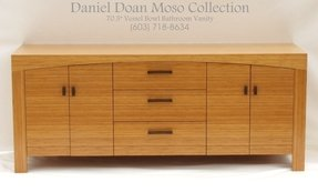 Daniel Doan Moso Collection 70 5 Solid Bamboo Double Vessel Bowls Bathroom Vanity