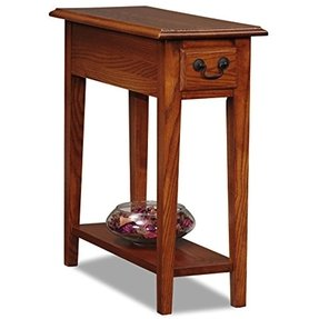 "Narrow End Table (Medium Brown) (2'H x 10""W x 2'D)"
