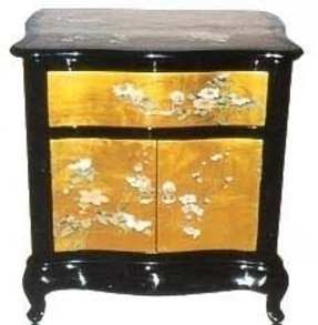 Gold nightstands foter for Oriental furniture and accessories