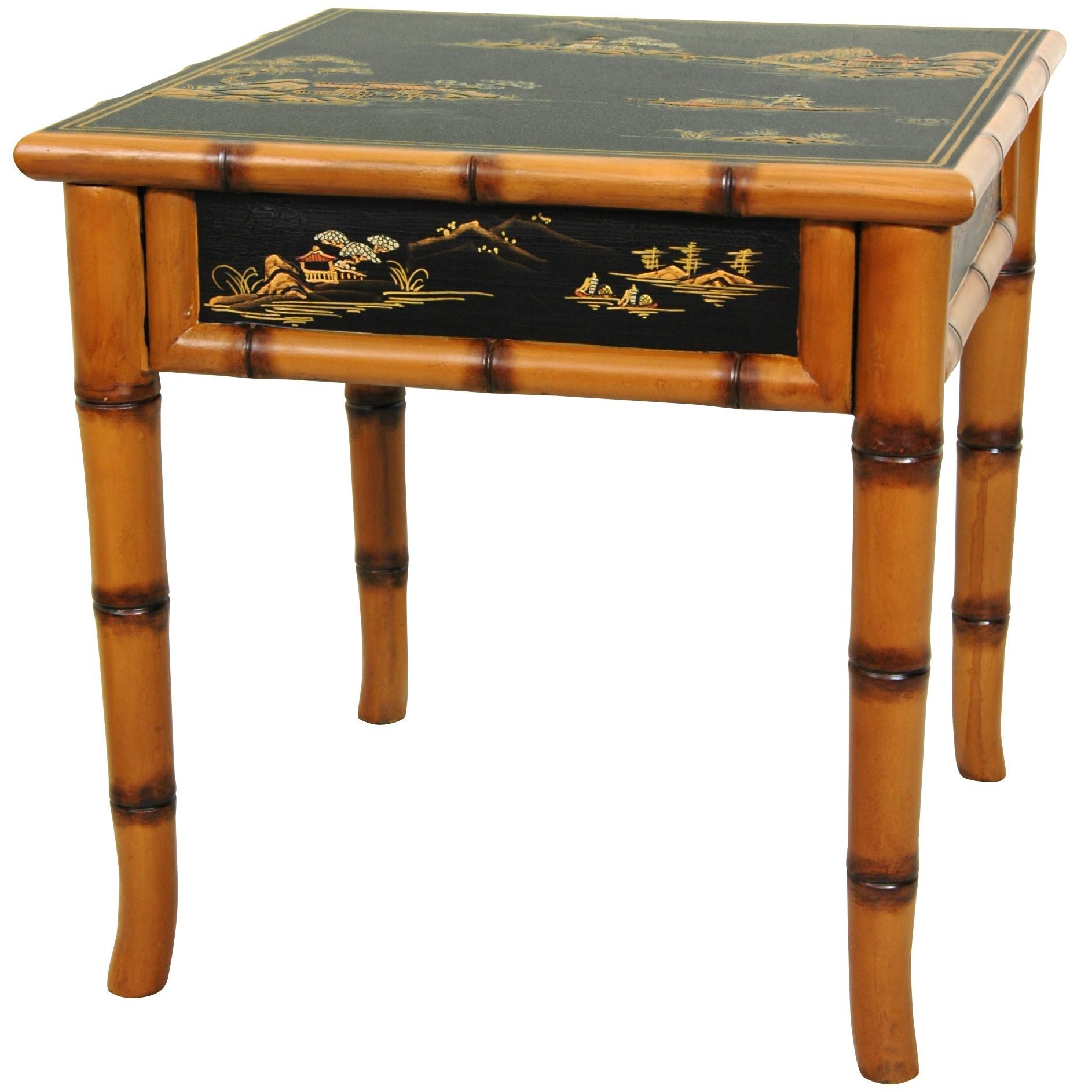 Oriental Furniture Unique Asian Furniture And Decor 18 Inch Ching Square  Black Lacquer Oriental End