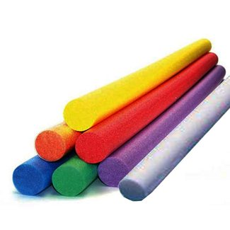 "Pool Noodles Swimming Pool Aid Fill Center No Hole Red, Blue, Green, White, Orange 58""x3"" (Blue)"