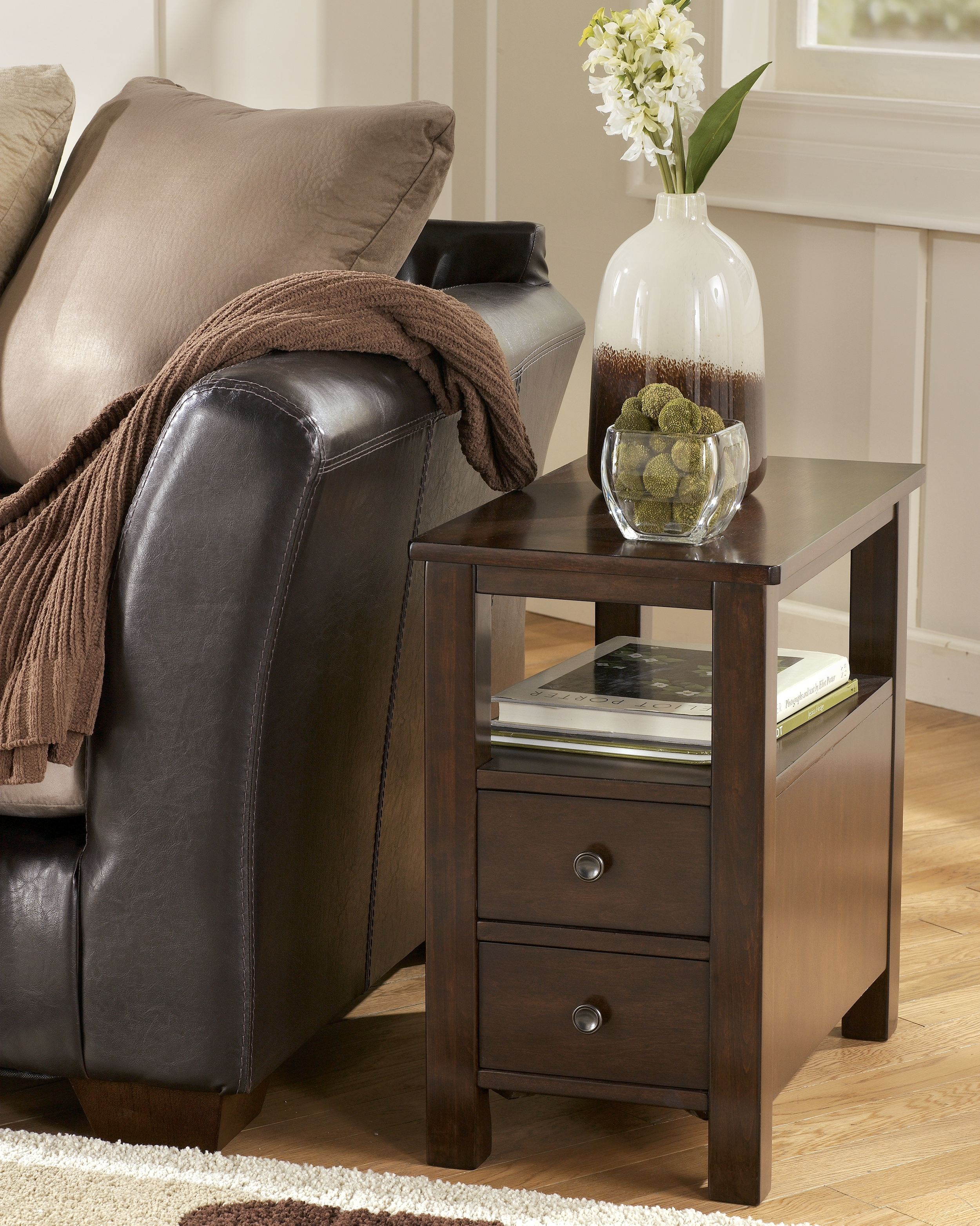Narrow End Table With Drawers Foter