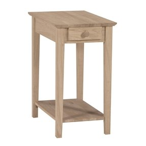Small Side Table With Drawer Solid Wood Unfinished