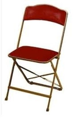 Velvet Upholstered Folding Chairs SET OF 4 CHAIRS