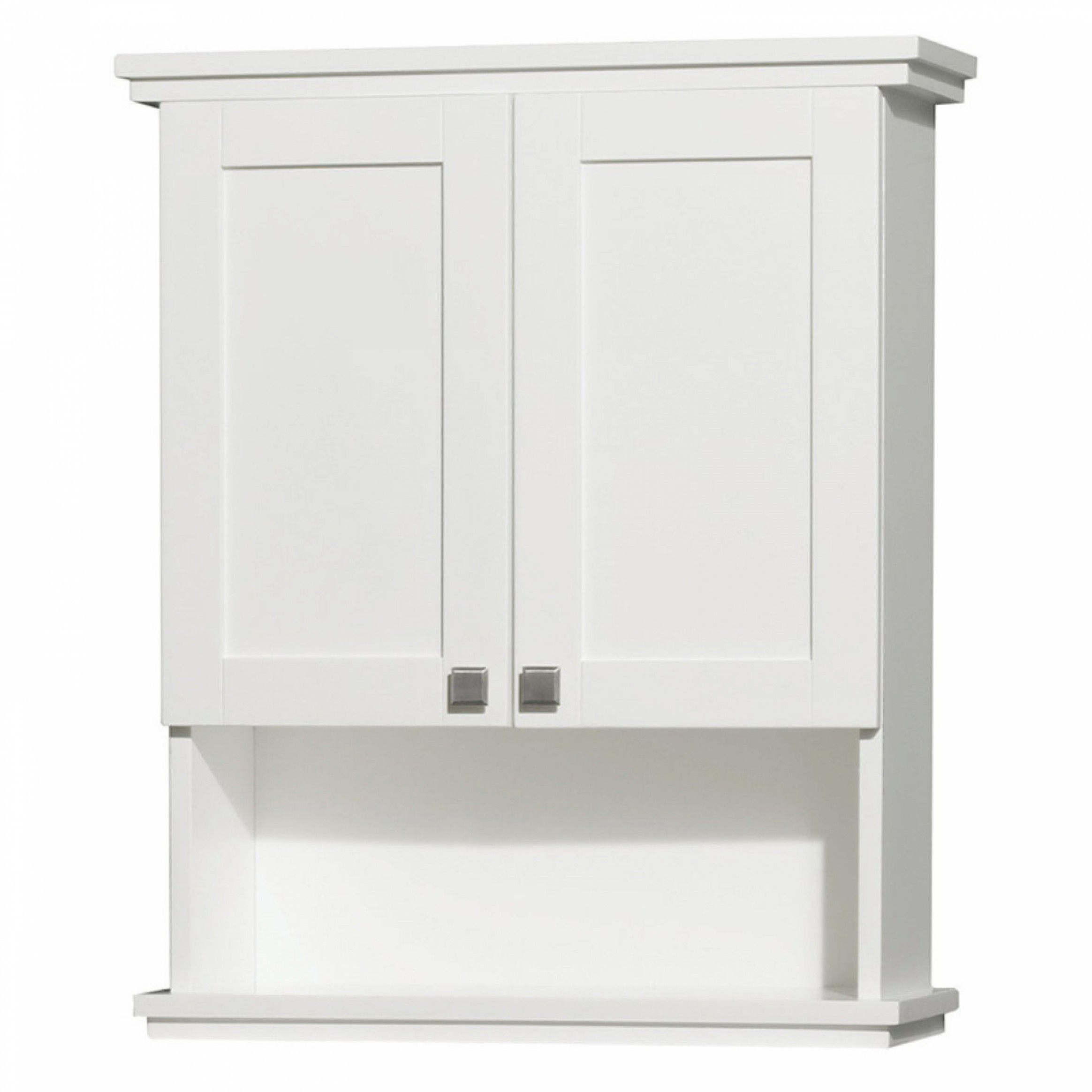 Wyndham Collection WCV8000WCWH Acclaim Wall Mount Bathroom Cabinet with Brushed Chrome Hardware White  sc 1 st  Foter & Bathroom Wall-Mounted Cabinets - Foter