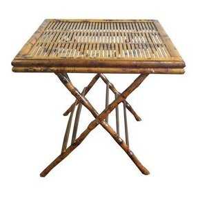 Bamboo Open Folding Table