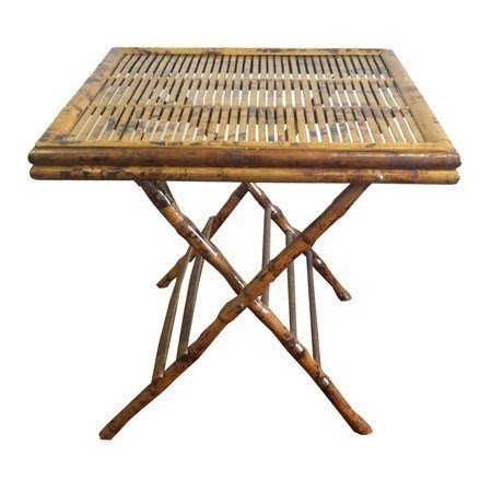 Incroyable Bamboo Open Folding Table